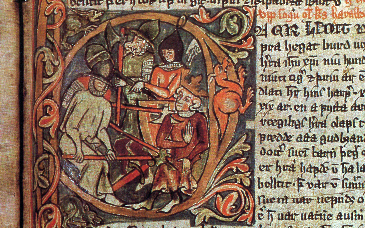 Martyrdom of St. Óláfr, † 1030