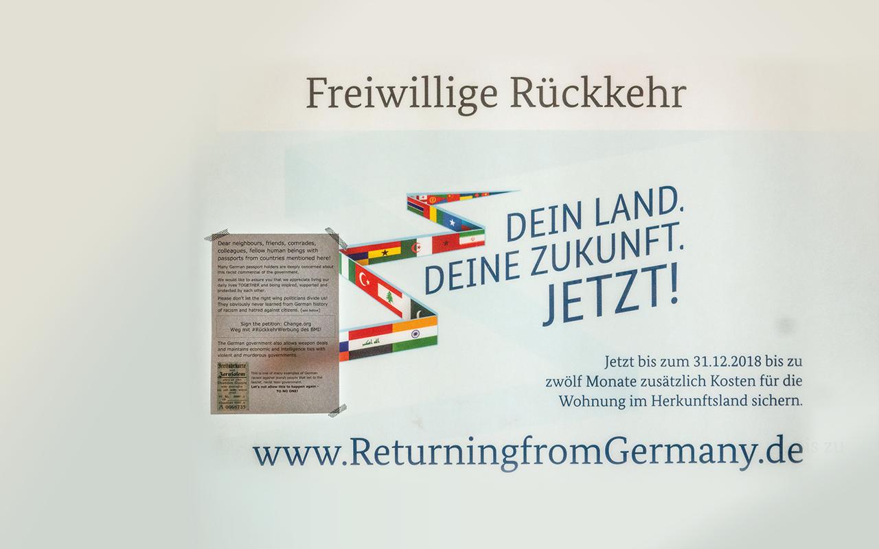 "Poster ""Freiwillige Rückkehr"""