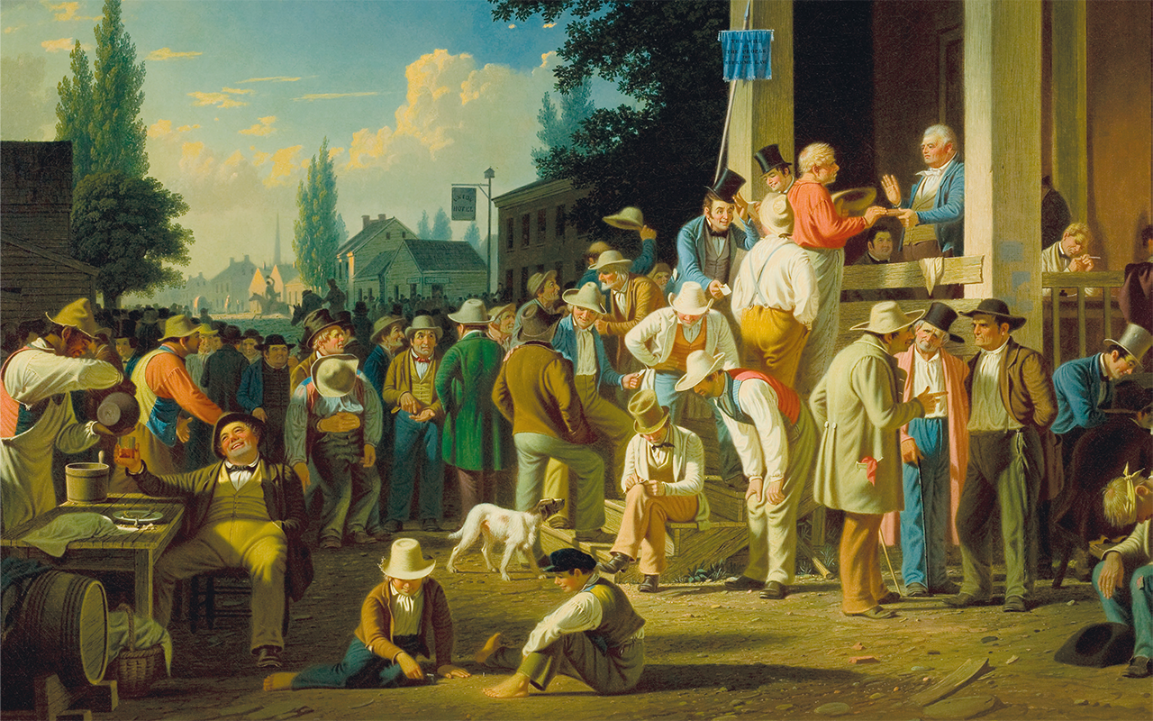 The County Election, 1854