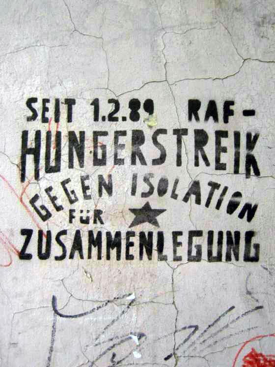 Wandgraffiti RAF Hungerstreik