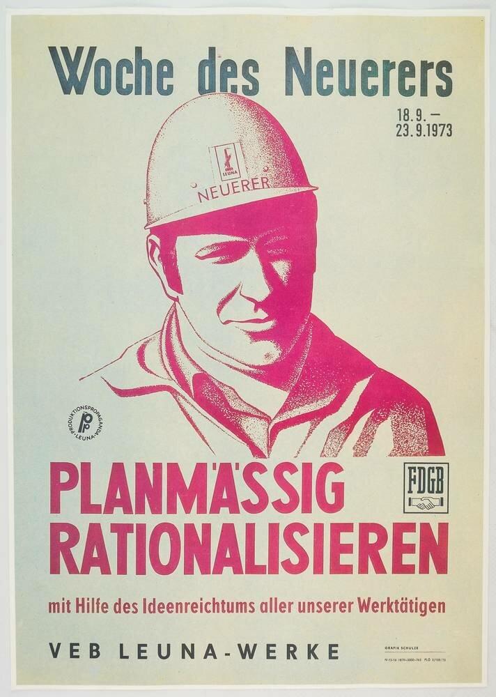 """Poster """"Woche des Neuerers/Planmäßig Rationalisieren"""""""